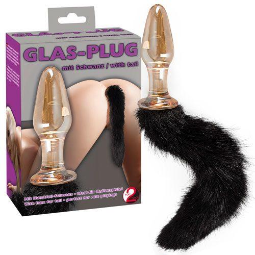Butt Plug Glass cu coada