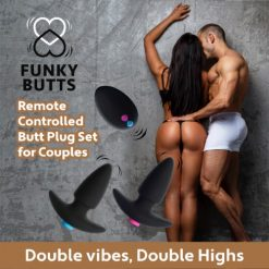 Set Butt Plug Cuplu FunkyButts Remote Controlled sex shop online